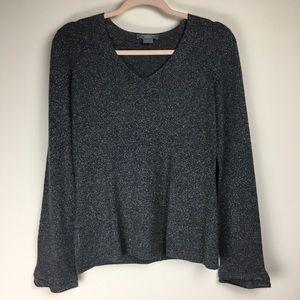 Ann Taylor Cashmere Blend Tinsel Grey Sweater M